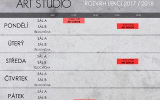 ART STUDIO – ROZVRH LEKCÍ & SOUSTŘEDĚNÍ