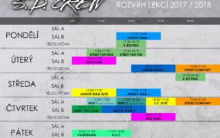 S.D. CREW – ROZVRH LEKCÍ & SOUSTŘEDĚNÍ