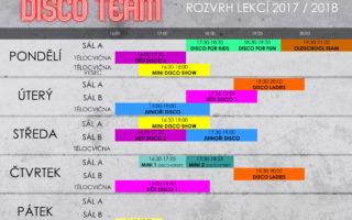 DISCO TEAM – ROZVRH LEKCÍ & SOUSTŘEDĚNÍ