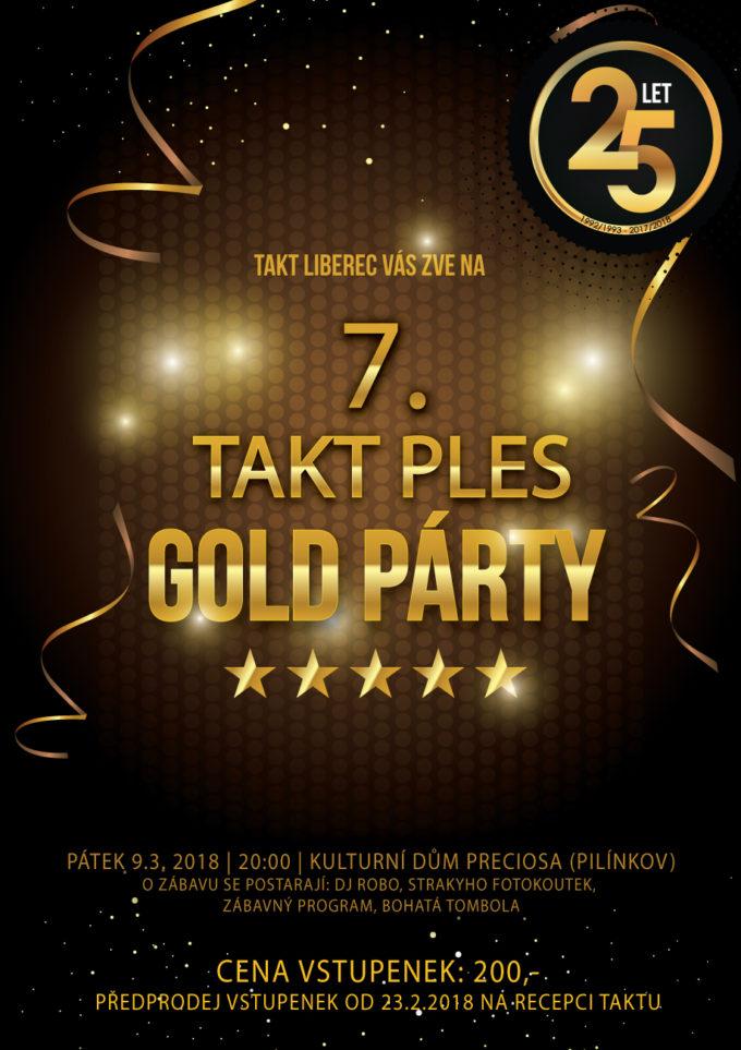 ZVEME VÁS NA 7. TAKTPLES - GOLD PÁRTY