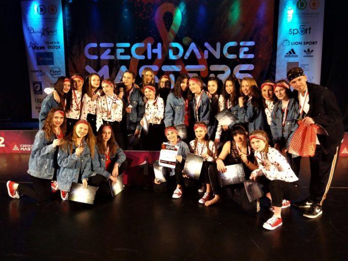 7 ZLATÝCH, 4 STŘÍBRNÉ, 2 BRONZOVÉ A 2 BRAMBOROVÉ POZICE Z REGIONU CZECH DANCE MASTERS