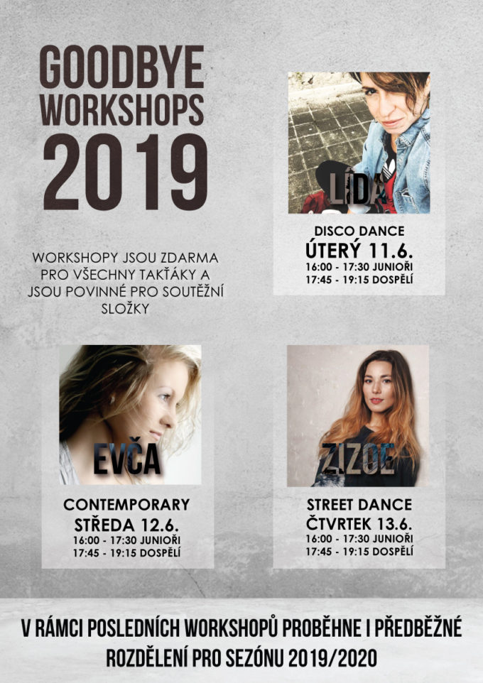 GOODBYE WORKSHOPS 2019